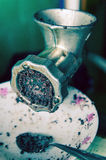Vecchia macchina mincing Immagini Stock