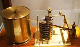 vecchia macchina stessa del barometro fotografia stock
