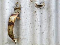 Vecchia maniglia arrugginita Fotografie Stock