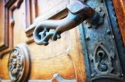 Vecchia maniglia della porta Fotografia Stock Libera da Diritti