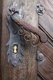 Vecchia maniglia della porta della porta Fotografia Stock Libera da Diritti