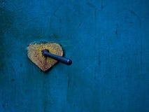 Vecchia maniglia di portello Fotografia Stock Libera da Diritti