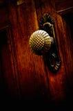 Vecchia maniglia di portello del metallo Fotografie Stock
