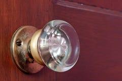Vecchia manopola di porta di vetro Fotografia Stock