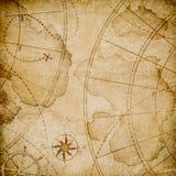 Vecchia mappa astratta dei pirati illustrazione di stock