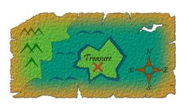 Vecchia mappa del tesoro Fotografia Stock