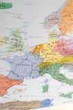 Vecchia mappa dell'Europa occidentale Immagini Stock Libere da Diritti