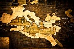 Vecchia mappa dell'Italia Fotografia Stock