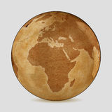 Vecchia mappa di mondo della terra Immagine Stock