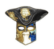 Vecchia maschera di Mardigras isolata Fotografie Stock