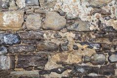 Vecchia massoneria di pietra Fotografie Stock Libere da Diritti