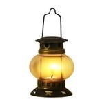 Vecchia masterizzazione della lanterna di cherosene Fotografia Stock Libera da Diritti