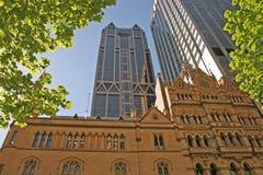 Vecchia Melbourne. Nuova Melbourne Fotografie Stock Libere da Diritti