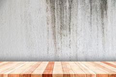 Vecchia mensola di legno Fotografia Stock Libera da Diritti