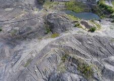 Vecchia miniera di carbone degradata del paesaggio nel sud della Polonia L distrutta Fotografia Stock Libera da Diritti