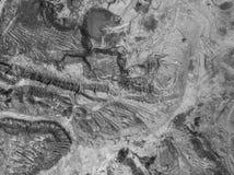 Vecchia miniera di carbone degradata del paesaggio nel sud della Polonia L distrutta Immagini Stock