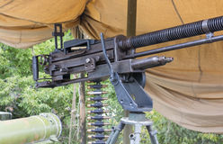 Vecchia mitragliatrice Immagini Stock Libere da Diritti