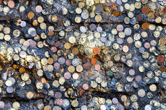 Vecchia moneta Fotografie Stock Libere da Diritti
