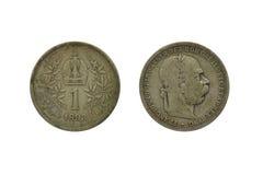 Vecchia moneta austriaca Fotografie Stock Libere da Diritti