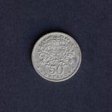 Vecchia moneta 50 centesimi Immagine Stock Libera da Diritti