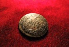 Vecchia moneta d'argento prussiana Fotografia Stock Libera da Diritti
