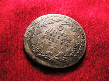 Vecchia moneta d'argento prussiana Fotografie Stock Libere da Diritti