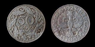 Vecchia moneta della Polonia Fotografia Stock Libera da Diritti