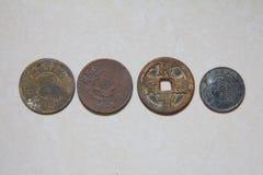 Vecchia moneta di rame cinese immagini stock