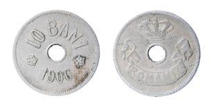 Vecchia moneta rumena Immagini Stock
