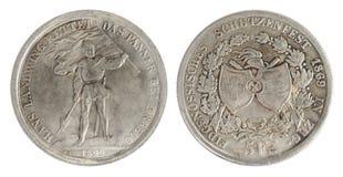 Vecchia moneta svizzera Immagini Stock Libere da Diritti