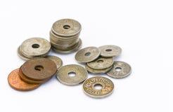 Vecchia moneta tailandese Fotografie Stock