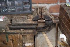 Vecchia morsa da banco Fotografia Stock Libera da Diritti