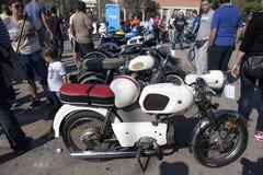 Vecchia mostra dei motocicli Immagine Stock