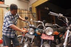 Vecchia motocicletta Fotografia Stock Libera da Diritti