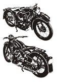 Vecchia motocicletta illustrazione di stock