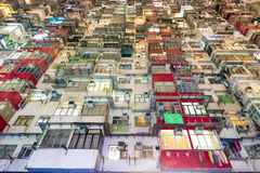 Vecchia multi proprietà Cina di architettura di colore di Hong Kong Residential Fotografia Stock Libera da Diritti