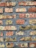 Vecchia muratura del muro di mattoni fotografia stock libera da diritti