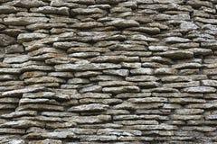 Vecchia muratura delle pietre piane come fondo immagine stock libera da diritti