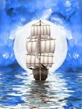 Vecchia nave illustrazione di stock