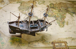 Vecchia nave Immagine Stock