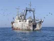 Vecchia nave arrugginita Fotografia Stock