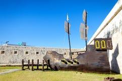 Vecchia nave in Campeche, Messico Fotografie Stock