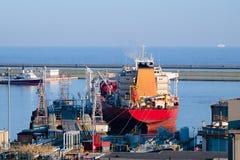 Vecchia nave da carico di Trasport dell'olio Fotografie Stock