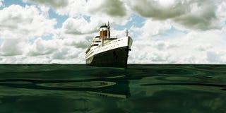 Vecchia nave da crociera royalty illustrazione gratis