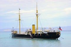 Vecchia nave da guerra Fotografia Stock Libera da Diritti