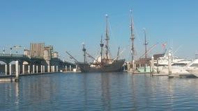 Vecchia nave da guerra Fotografia Stock