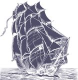 Vecchia nave della vela illustrazione di stock
