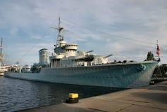 Vecchia nave di battaglia Fotografia Stock Libera da Diritti