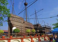 Vecchia nave di legno portoghese Fotografia Stock