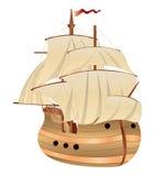 Vecchia nave di navigazione illustrazione di stock